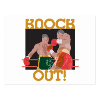 KO knock out boxing vector design Postcard