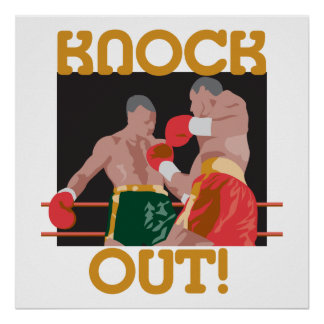 KO knock out boxing vector design Poster