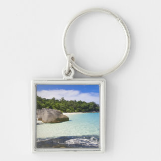 Ko Miang Island, Simil Islands on Andam Sea, Silver-Colored Square Keychain