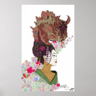 Ko-no-Hana Goddess Geisha of Earthly Life Poster
