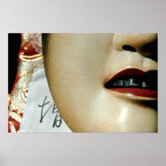 Ko-omote (小面) noh mask poster
