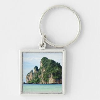 Ko Phi Phi Island on Andaman Sea, Krabi Silver-Colored Square Keychain