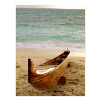 Koa Canoe Postcard