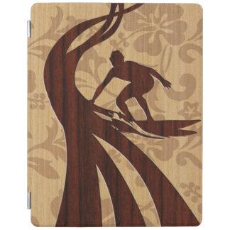 Koa Wood Surfer Surfboard Faux Wood iPadSmartCover iPad Smart Cover