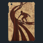 "Koa Wood Surfer Surfboard iPad Mini Cases<br><div class=""desc"">Located on Oahu&#39;s North Shore in Hawaii, there are about a dozen beaches that are known for their history with famous surfers of the fifties, sixties and seventies. These surfers and shapers inspired us to design these cases. We carved into faux koa wood and various other woods to create these...</div>"