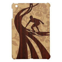 Koa Wood Surfer Surfboard iPad Mini Cases
