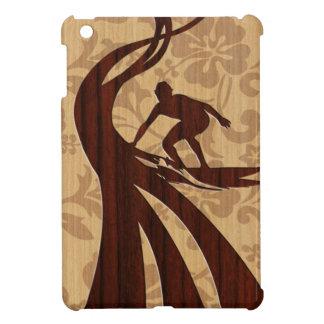Koa Wood Surfer Surfboard iPad Mini Cases