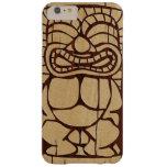 Koa Wood Tiki Ailani Surfboard Barely There iPhone 6 Plus Case