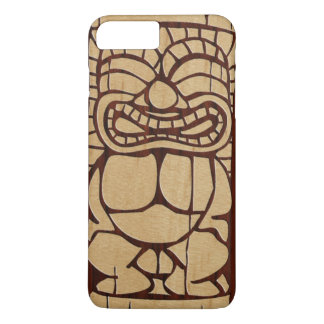 Koa Wood Tiki Ailani Surfboard iPhone 8 Plus/7 Plus Case