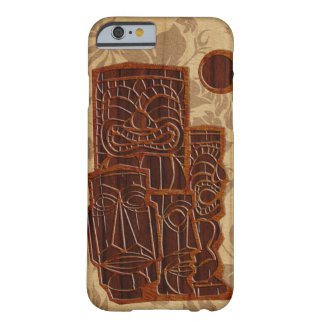Koa Wood Tiki Sun Surfboard iPhone 6 case