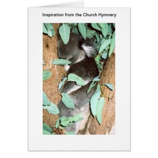 koala 3 - inspiración de la iglesia hymnary tarjetas