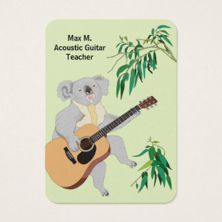 Koala - Acoustic Guitar Teacher Business Cards