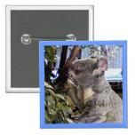 Koala adorable pin cuadrada 5 cm