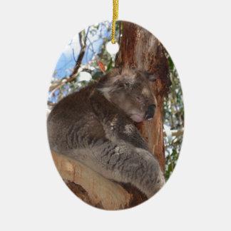 Koala Adorno Navideño Ovalado De Cerámica