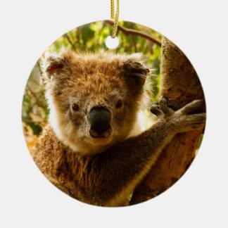 Koala Adorno Navideño Redondo De Cerámica
