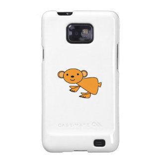 Koala anaranjada linda galaxy s2 fundas