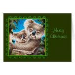 Koala and Baby Christmas Card