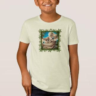 Koala and Baby Christmas Snowflakes Kids Organic T T-Shirt