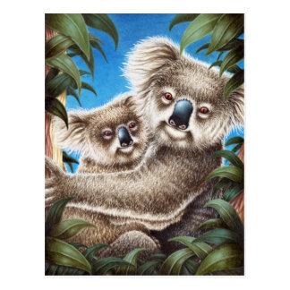 Koala and Baby Postcard
