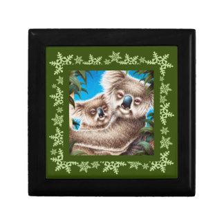 Koala and Baby Snowflake Gift Box