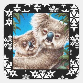 Koala and Baby Snowflake Sticker