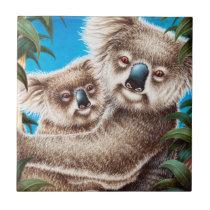 Koala and Baby Tile