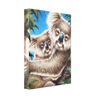Koala and Baby Wrapped Canvas wrappedcanvas