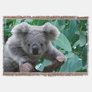 Koala and Eucalyptus Throw
