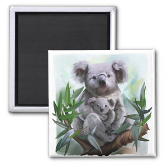 Koala and her baby magnet