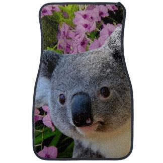 Koala and Orchids Car Floor Mat