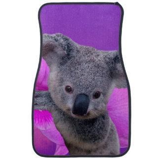 Koala and Orchids Car Mat