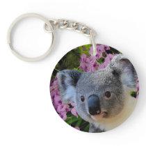 Koala and Orchids Keychain