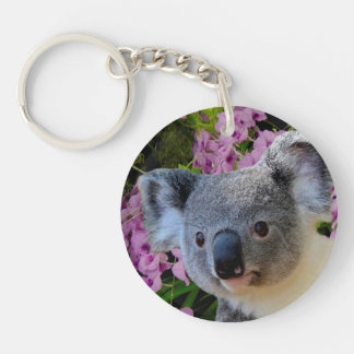 Koala and Orchids Keychain