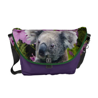 Koala and Orchids Messenger Bag