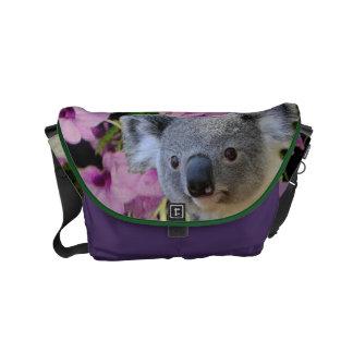 Koala and Orchids Small Messenger Bag