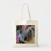 Koala and Orchids Tote Bag