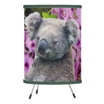 Koala and Orchids Tripod Lamp