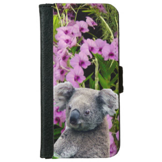 Koala and Orchids Wallet Phone Case For iPhone 6/6s