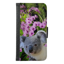 Koala and Orchids Wallet Phone Case For Samsung Galaxy S6