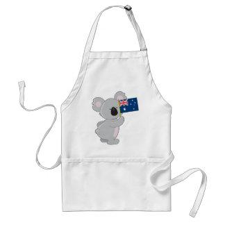 Koala Australian Flag Adult Apron