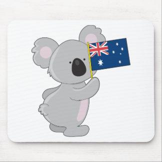 Koala Australian Flag Mouse Pad