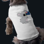 """Koala Australian Flag Tee<br><div class=""""desc"""">A cute little koala is holding up an Australian flag.  Customize this product with a name or message to make it truly unique</div>"""
