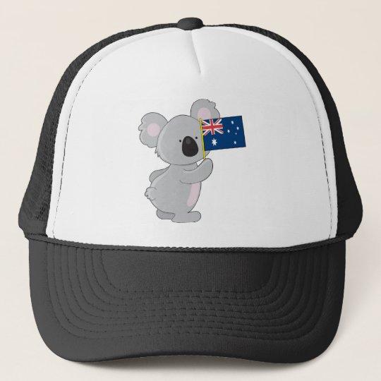 Koala Australian Flag Trucker Hat