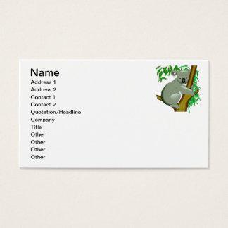 Koala - Australian Tree Living Marsupial Business Card