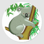 Koala - Australian Tree Living Marsupial Round Sticker