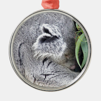 Koala australiana encantadora el dormir ornamentos de navidad