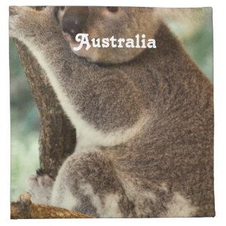 Koala australiana servilletas imprimidas