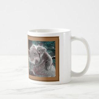 koala baby and mummy basic white mug