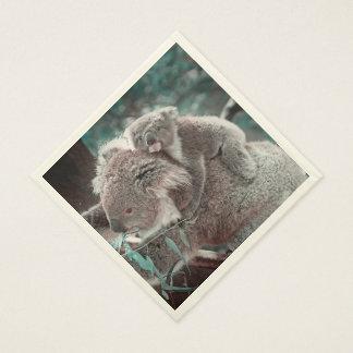 koala baby and mummy standard luncheon napkin