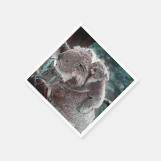 koala baby and mummy standard cocktail napkin